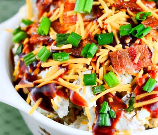 Texas Barbecue Loaded Baked Potato Salad-4-Cropped