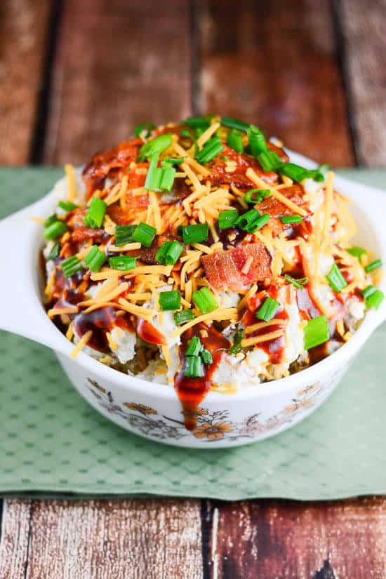 Texas Barbecue Loaded Baked Potato Salad