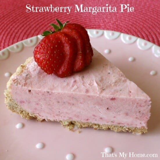 easy no bake strawberry-margarita-pie
