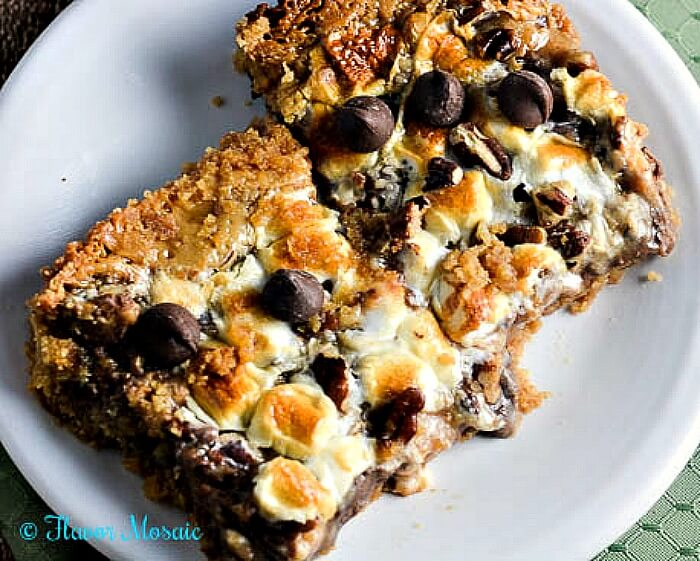 Amazing S'Mores Toffee 7 Layer Bars with Marshmallows