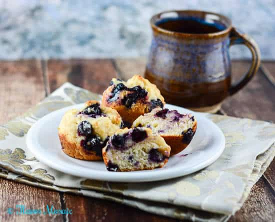 Easy Blueberry Muffins with Lemon