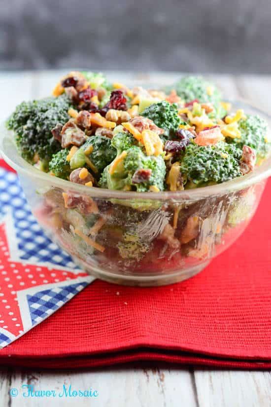 Broccoli Salad - Flavor Mosaic