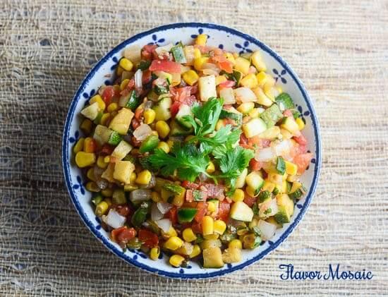 Corn and Zucchini Salsa