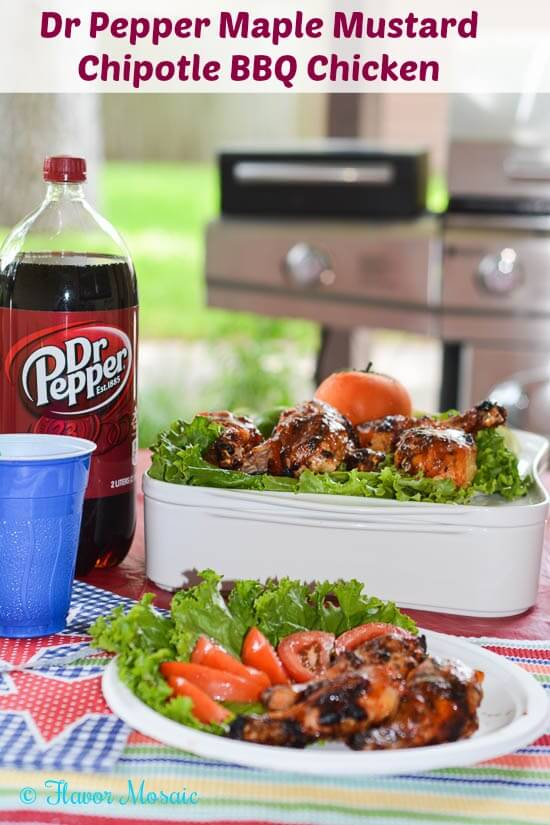 Dr Pepper Maple Mustard Chipotle BBQ Chicken #backyardbash #cbias #shop