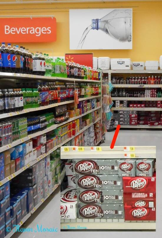 Dr-Pepper-Walmart-in-store-aisle - grilling #backyardbash #cbias #shop