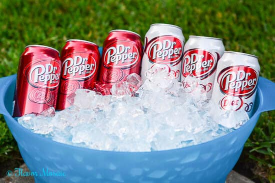Dr-Pepper-on-ice for grilling season, #backyardbash #cbias #shop