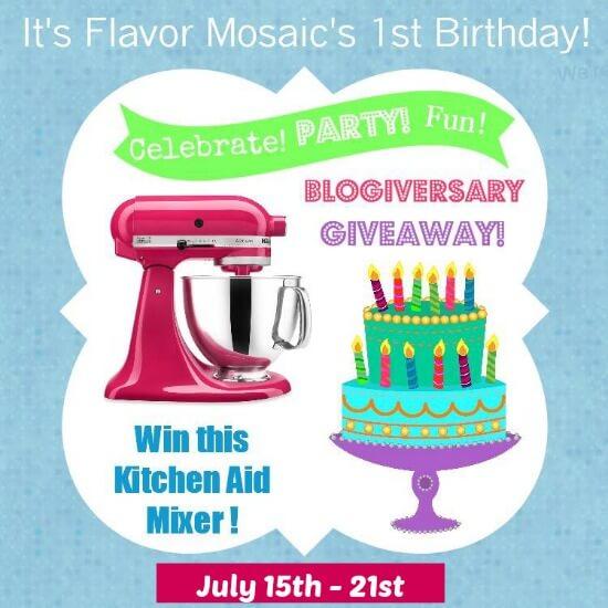 Impressive Win A Kitchen Aid Mixer! Flavor Mosaic's 1st Blogiversary 550 x 550 · 48 kB · jpeg