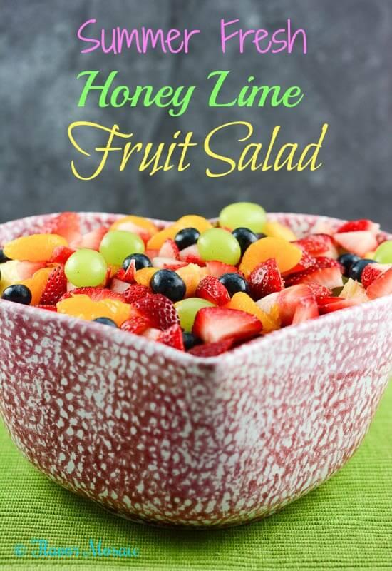 Summer Fresh Honey Lime Fruit Salad