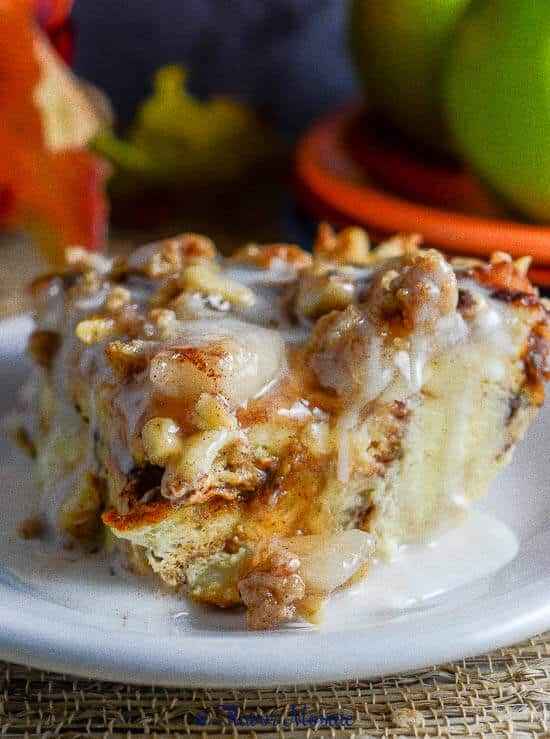 Apple Pie Cinnamon Bread Pudding