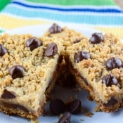 Chocolate Chip Caramel Crumb Bars