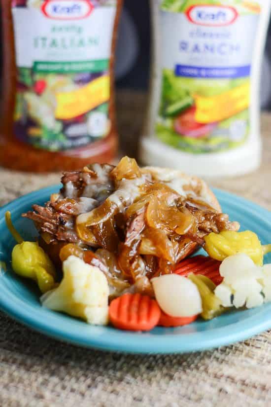 Juicy Pot Roast with Italian Ranch Sauce-7