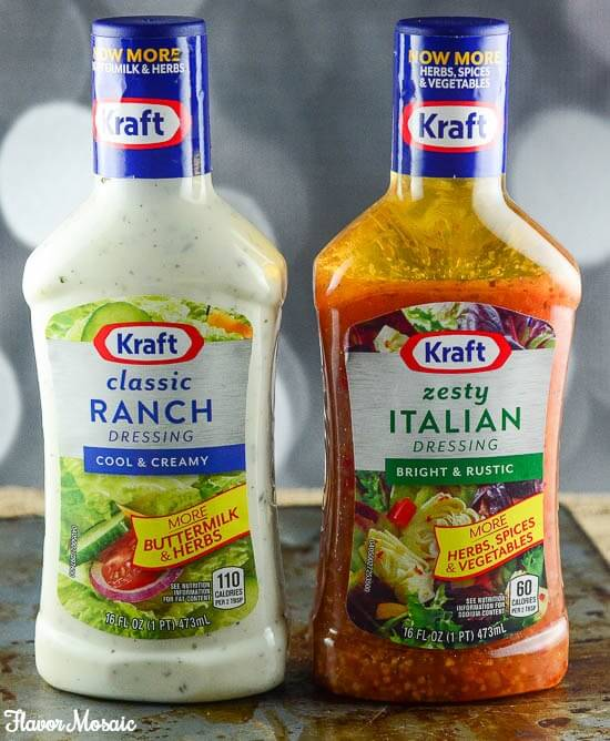 Kraft Ranch n Zesty Italian Dressing Close Up Photo