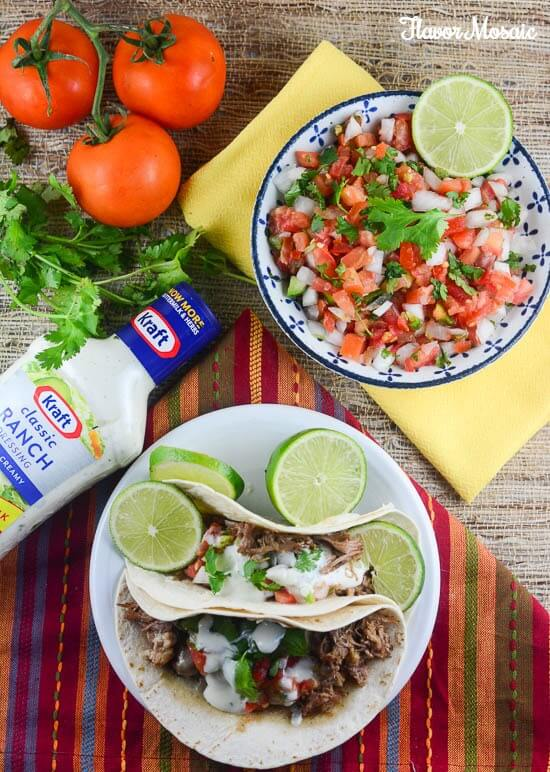 Kraft Zesty Ranch Slow Cooker Pork Carnitas - A Simple Budget Friendly Meal