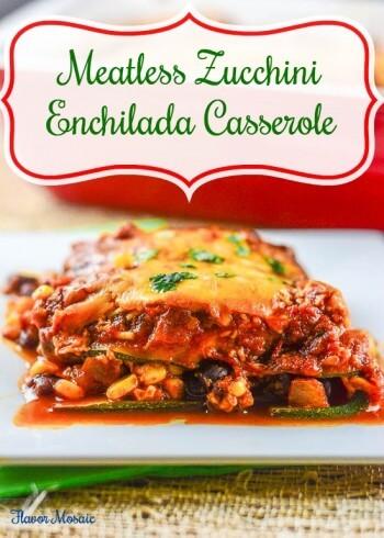 Meatless Zucchini Enchilada Casserole