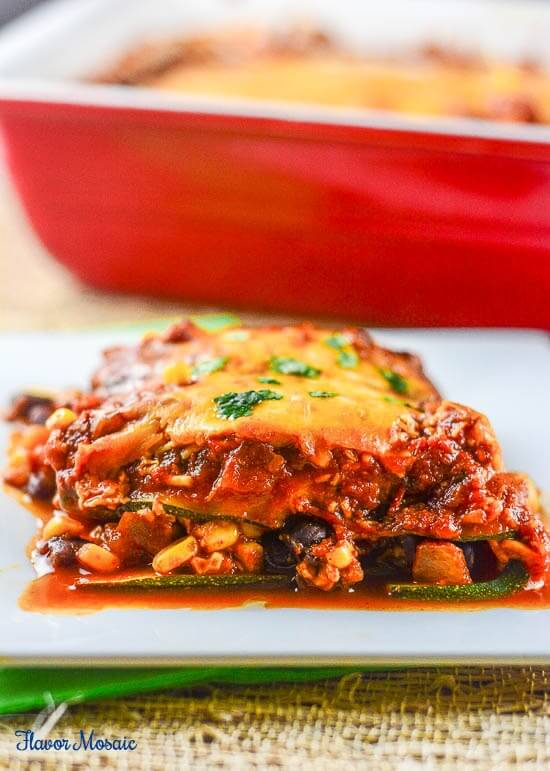 Meatless Zucchini Enchilada Casserole-5-WM