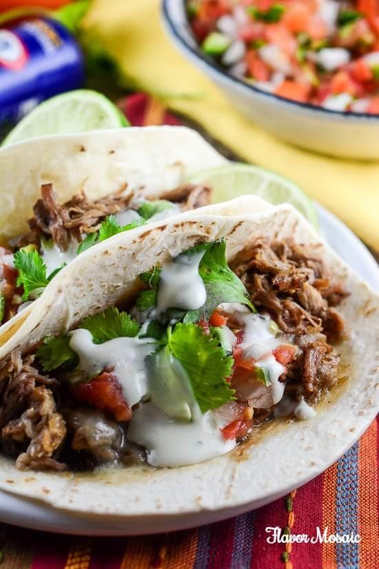 Zesty Ranch Slow Cooker Pork Carnitas - A Simple Budget Friendly Recipe
