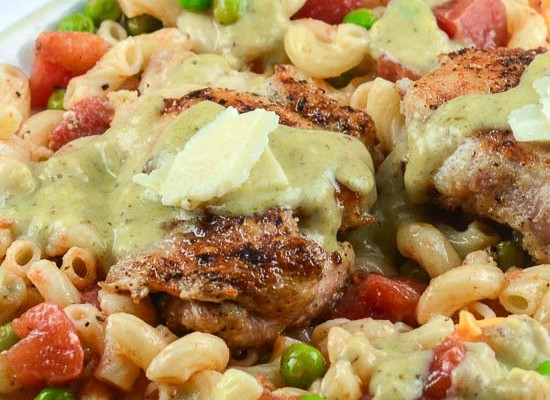 Chicken in Pesto Cream Sauce