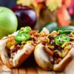 Braised Brats with Apples and Onions #SundaySupper