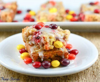 Candy Apple M&M Magic Bars