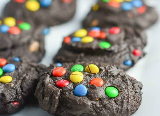 Mini M&M Chocolate Cookies