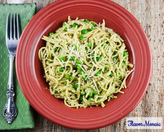 Pea and Parsley Pesto Pasta