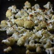 Garlic Parmesan Oven Roasted Cauliflower