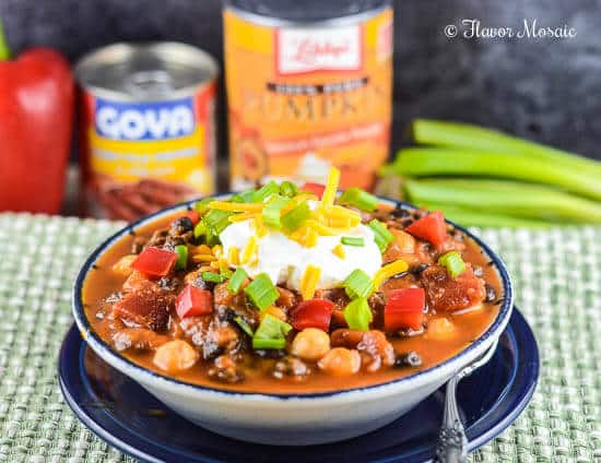 Pumpkin Chipotle Vegetarian Chili