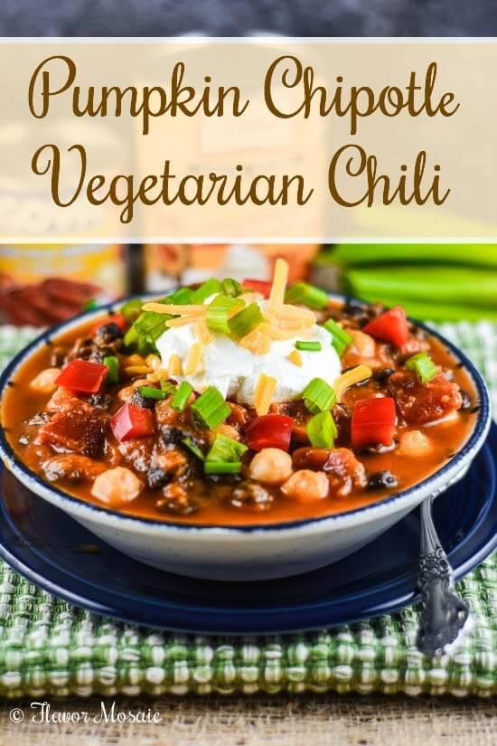 Pumpkin Chipotle Vegetarian Chili