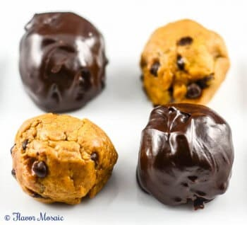 Pumpkin Cookie Dough Chocolate Truffles
