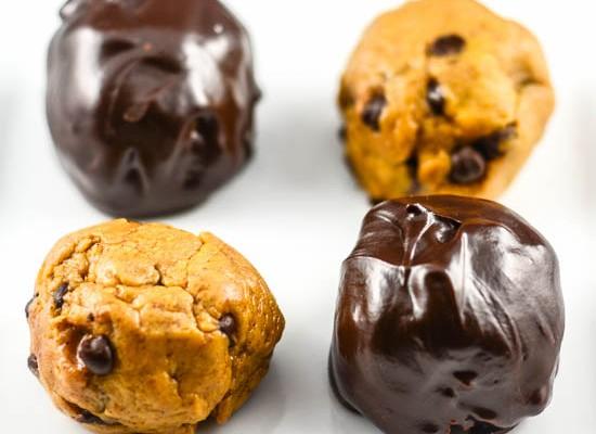 Pumpkin Cookie Dough Chocolate Truffles