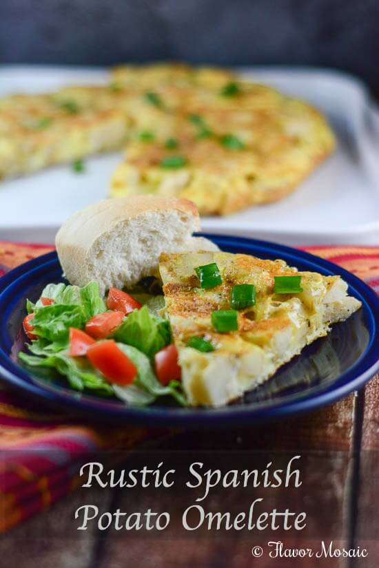 Rustic Spanish Potato Omelette Recipe