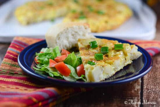 Rustic Spanish Potato Omelette Recipe - Flavor Mosaic