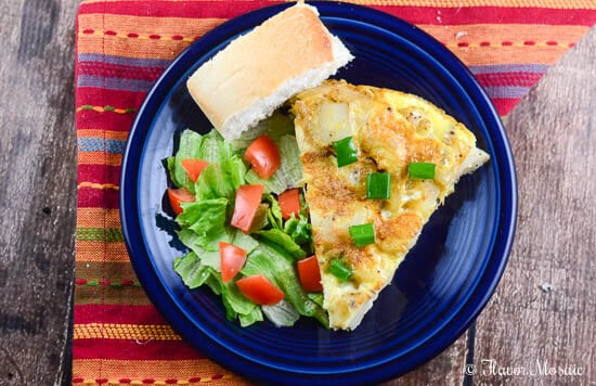 Rustic Spanish Potato Omelette Recipe from Flavor Mosaic