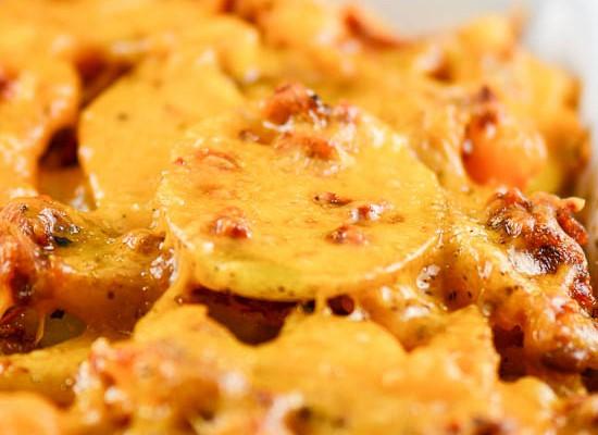 Sun Dried Tomato Pesto Cheesy Potatoes
