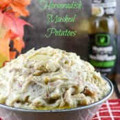 Bacon Onion Horseradish Mashed Potatoes