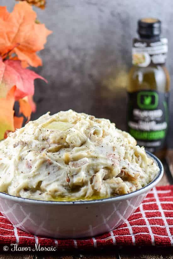 Bacon Onion Horseradish Mashed Potatoes