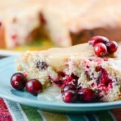 Homemade Fresh Cranberry Christmas Cake