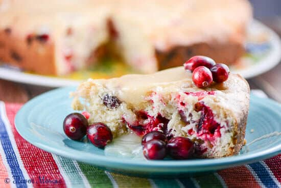 Homemade Fresh Cranberry Christmas Cake is an easy homemade moist white cake with orange zest that is made from scratch with fresh cranberries.