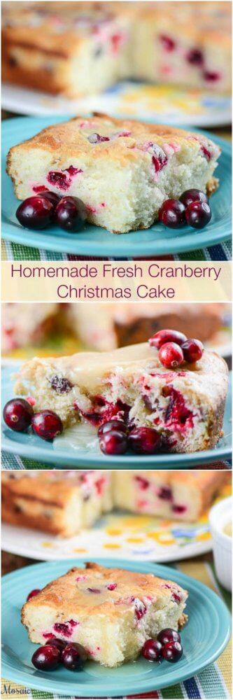 Homemade Fresh Cranberry Christmas Cake