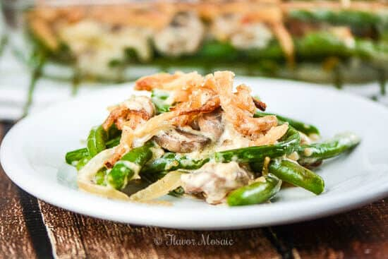 Homemade Green Bean Casserole made from scratch without any canned soup.