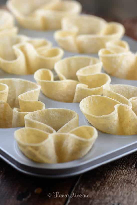 Mini Corn Dip Taco Cups