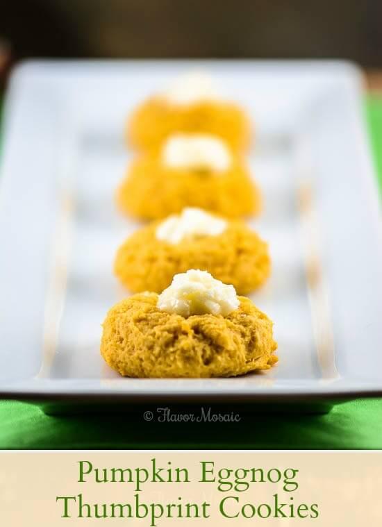 Pumpkin Eggnog Cookies