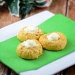 Pumpkin Eggnog Thumbprint Cookies