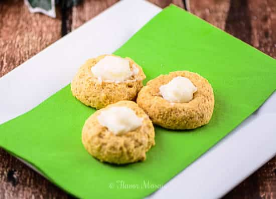 Pumpkin Eggnog Thumbprint Cookie