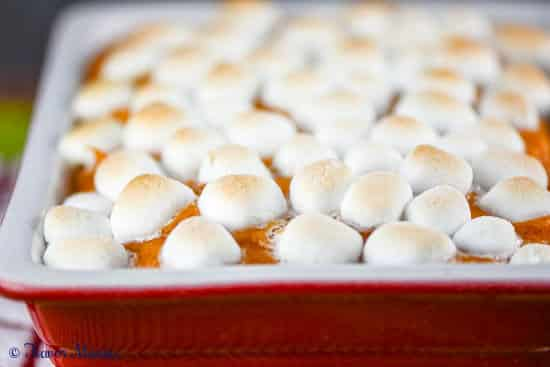Sweet Potato Casserole with Marshmallows is a classic or traditional Thanksgiving recipe and a family favorite.