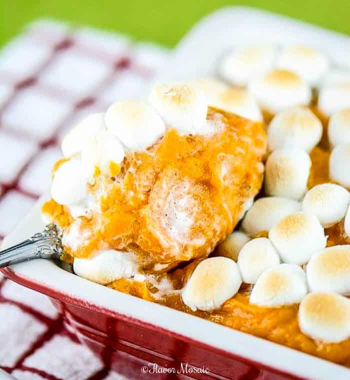 Sweet Potato Casserole with Marshmallows for Thanksgiving