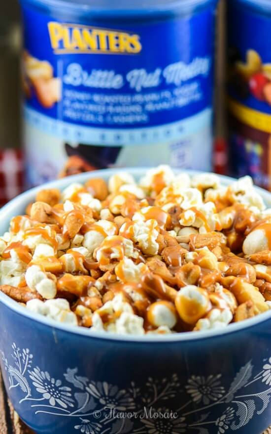 Caramel Brittle Popcorn Snack Mix