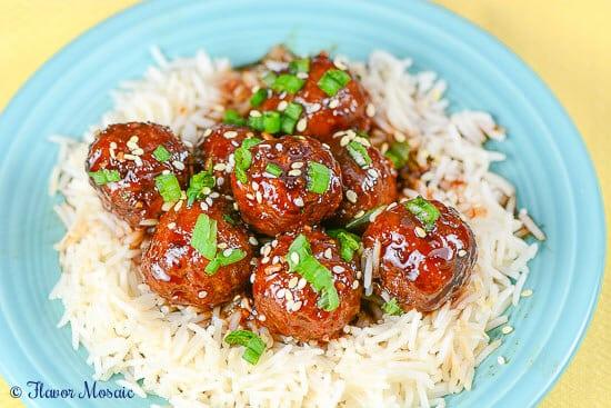 Slow Cooker Asian Sesame Meatballs