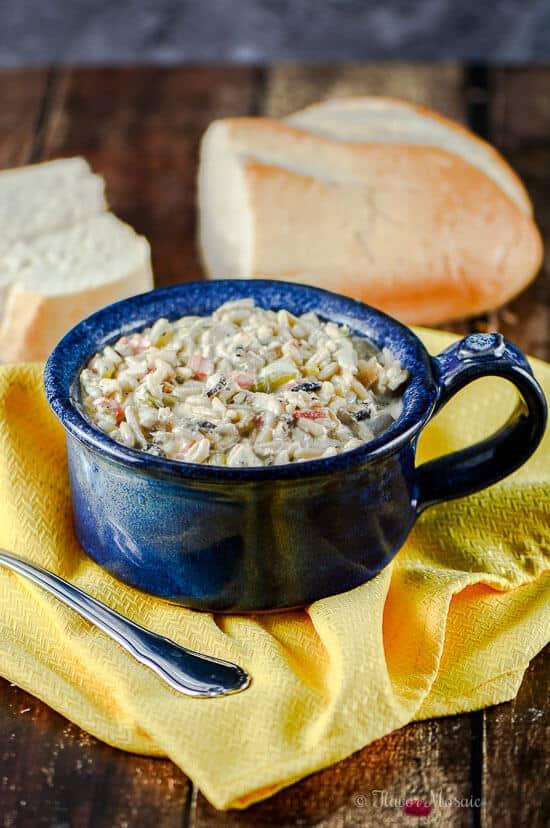 Gluten Free Creamy Chicken Wild Rice Soup