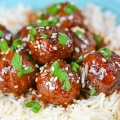 Slow Cooker Asian Sesame Meatballs